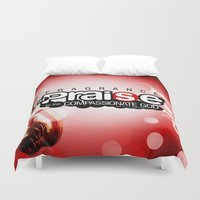 bible verse Duvet Covers featuring Bible Scripture by Azeez Olayinka Gloriousclick