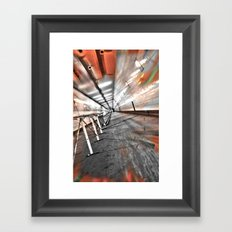 Deep in the tunnel Framed Art Print