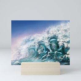 water horse Mini Art Print