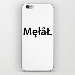 Metal New Font iPhone Skin