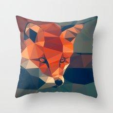 Triangular fox Throw Pillow