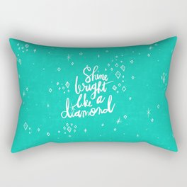 Shine Bright Like A Diamond - Green Rectangular Pillow