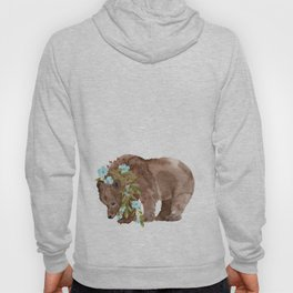 Bear with flower boa Hoody