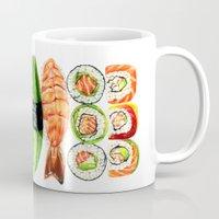 sushi Mugs featuring Sushi by Sam Luotonen