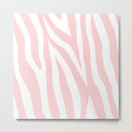 Pale pink zebra fur pattern 04 Metal Print