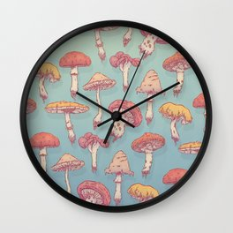 Champignons Wall Clock