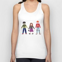 hermione Tank Tops featuring Harry, Hermione, and Ron by Janna Morton