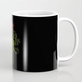 Paeonia Tenuifolia Mary Delany Vintage British Floral Flower Paper Collage Black Background Coffee Mug
