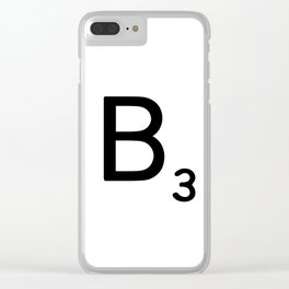 Letter B - Custom Scrabble Letter Wall Art - Scrabble B Clear iPhone Case