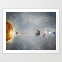 solar system Kunstdrucke