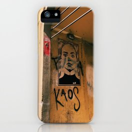 chaos in italy iPhone Case