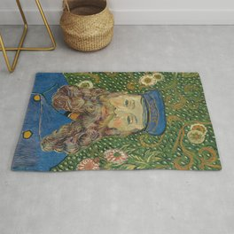 Van Gogh Postman- Portrait of Joseph Roulin Rug
