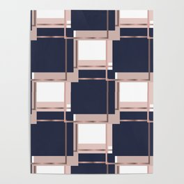 Abstract luxury Square pattern Poster