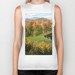 Vermont Foliage Watercolor Biker Tank