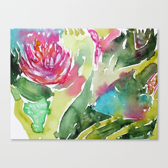 Floral abstraction || watercolor Canvas Print