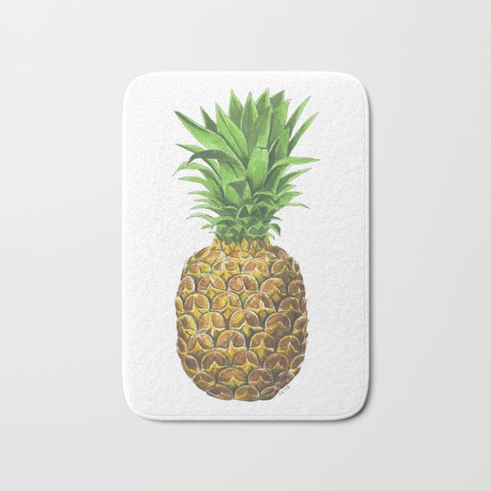 Pineapple, tropical fruit Bath Mat