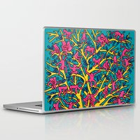 keith haring Laptop & iPad Skins featuring Keith Haring: The Tree of Monkeys by cvrcak