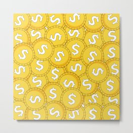 MONEY: Coins Metal Print