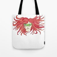 sister Tote Bags featuring Sister by aHattfull