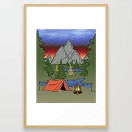 Camp Illustration Framed Art Print