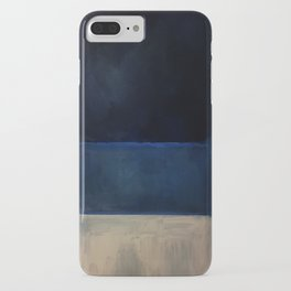 Mark Rothko Interpretation White And Greens In Blue iPhone Case
