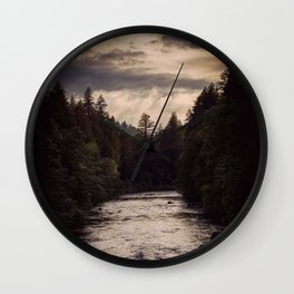 River Reflections Wall Clock
