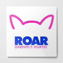Pink Pussy ROAR Metal Print