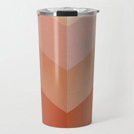 Chevron Geometry 3. Terracotta Travel Mug