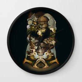Old Master Skull Wall Clock