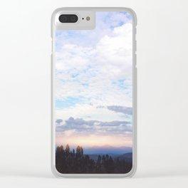 Landscape & Clouds Clear iPhone Case
