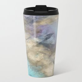 Teal, Purple, Gold Geode Travel Mug