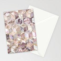 Blush Quartz Honeycomb Stationery Cards