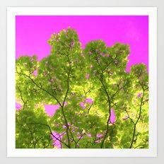 green and pink II Art Print