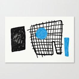a graphic montage Canvas Print