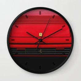 Ferrari Mondial 3.2 Wallpaper  Wall Clock