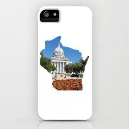 Beautiful Capitol Building in Wisconsin iPhone Case