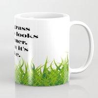 grass Mugs featuring GRASS by C O R N E L L