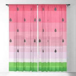 watermelons Sheer Curtain