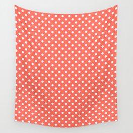 Coral polka dot Wall Tapestry