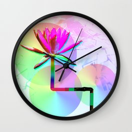 Rainbow Lotus Wall Clock