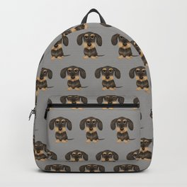 Wirehaired Dachshund | Cute Wire Haired Wiener Dog | Wild Boar and Tan Teckel Backpack