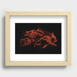 red fishes Recessed Framed Print