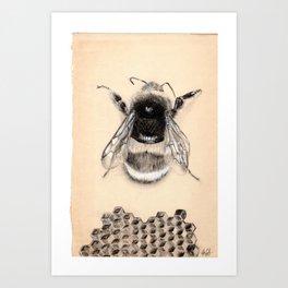 Just BEE Art Print