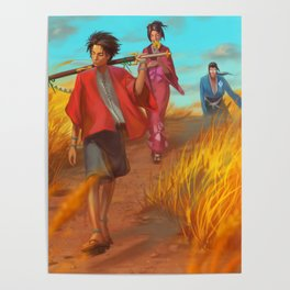 Searching of the Sunflower Samurai Poster