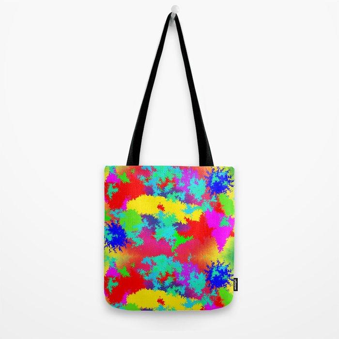 Colourful Random Trippy Pattern Tote Bag