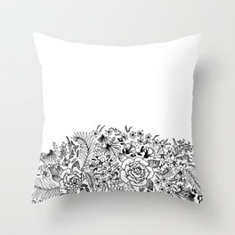 edge of the meadow Throw Pillow