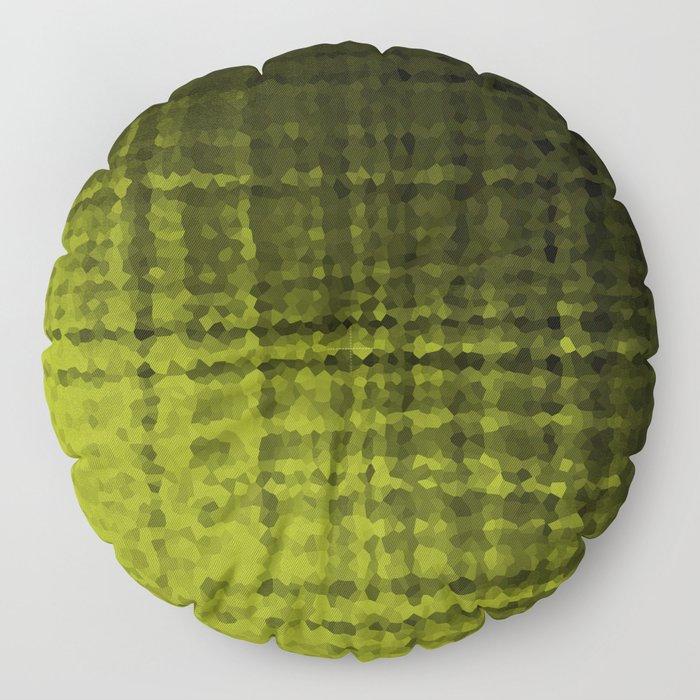 Black olive mosaic Floor Pillow