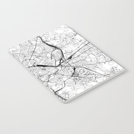 Rome White Map Notebook