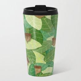 Acorns and Leaves Metal Travel Mug