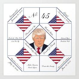 Commemorative Trump 2016 Election Pattern Art Print